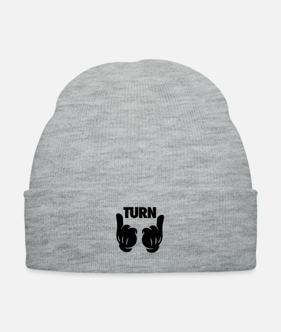 Turn Up Hands Caps & Hats - Turn Up Hands - Knit Cap heather gray