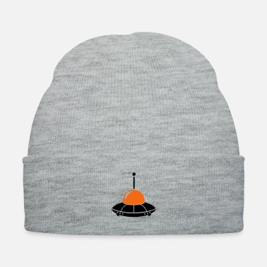 Spaceman ufo alien flying saucer space - Knit Cap