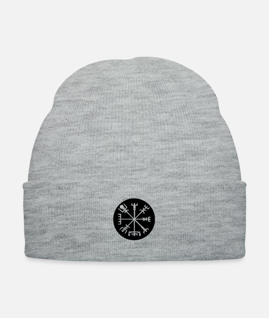 Thor Caps & Hats - Viking Vegvisir - Knit Cap heather gray