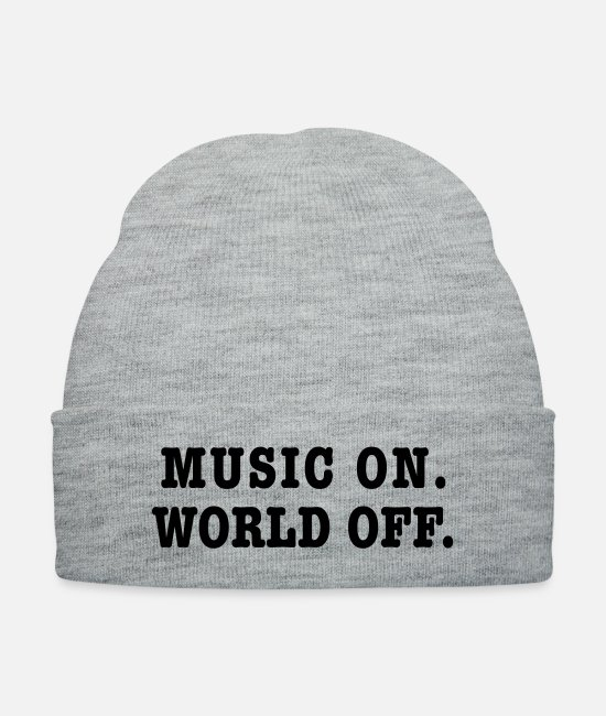 Singer Caps & Hats - (music_on2) - Knit Cap heather gray