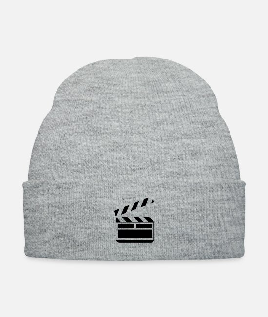 Movie Caps & Hats - Clapboard - Knit Cap heather gray