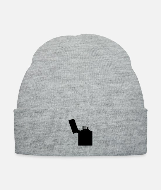 Fire Hazard Caps & Hats - flame - Knit Cap heather gray