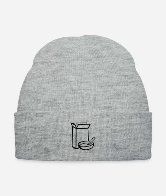 Cereal Box Caps & Hats - cereal box - Knit Cap heather gray