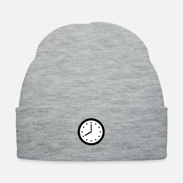 Clock Clock Rounded Hands and Dots - Knit Cap