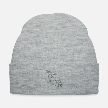 Plain Plain single leaf - Knit Cap