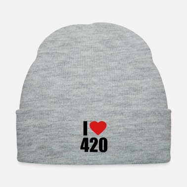 Smoke Weed I love 420 - Knit Cap
