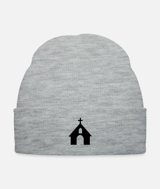 Church Caps & Hats - chruch - Knit Cap heather gray