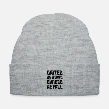 Fall united we stand divided we fall - Knit Cap