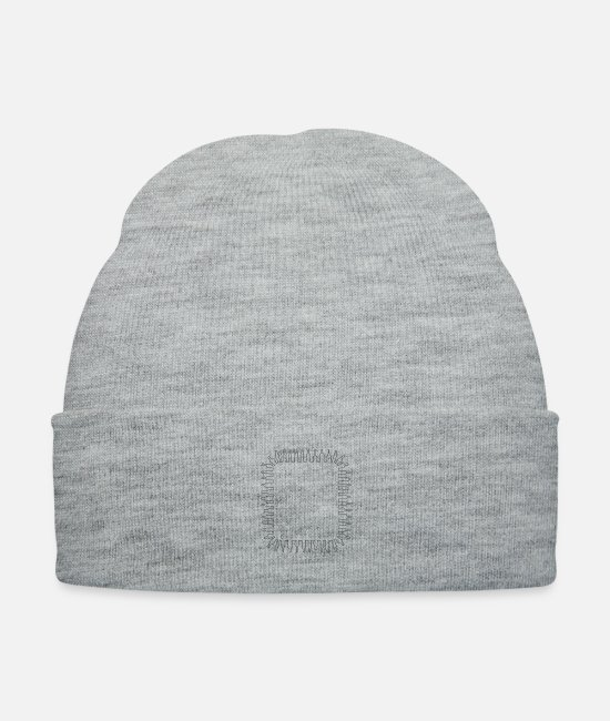 Container Caps & Hats - Bottle frame 3 - Knit Cap heather gray