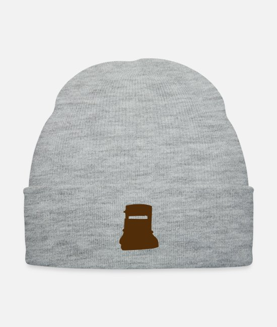 Gang Caps & Hats - Ned Kelly Mask - Knit Cap heather gray