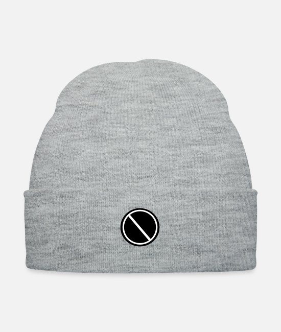 Hollow Caps & Hats - Red Trainer Symbol - Knit Cap heather gray