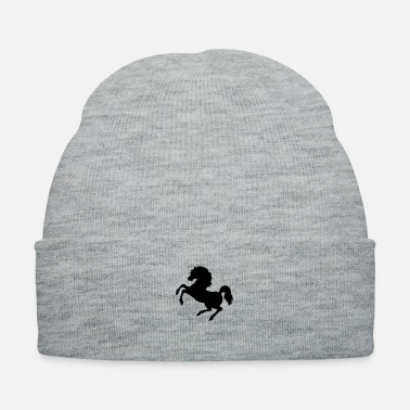 Education-culture Rearing horse (silhouette) - Knit Cap