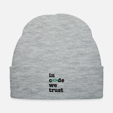 In Code We Trust in code we trust - Knit Cap