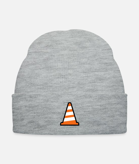 Building Caps & Hats - Pylon Construction Site - Knit Cap heather gray