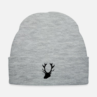 Stag stag head 1 - Knit Cap