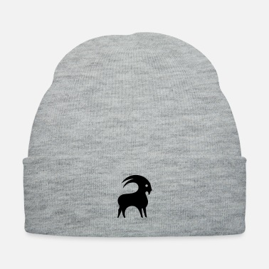 December Astrology Capricorn Horned Goat Zodiac Sign Symbol - Knit Cap