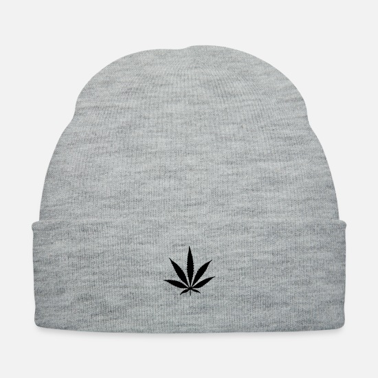 Weed Caps - Cannabis - Knit Cap heather gray