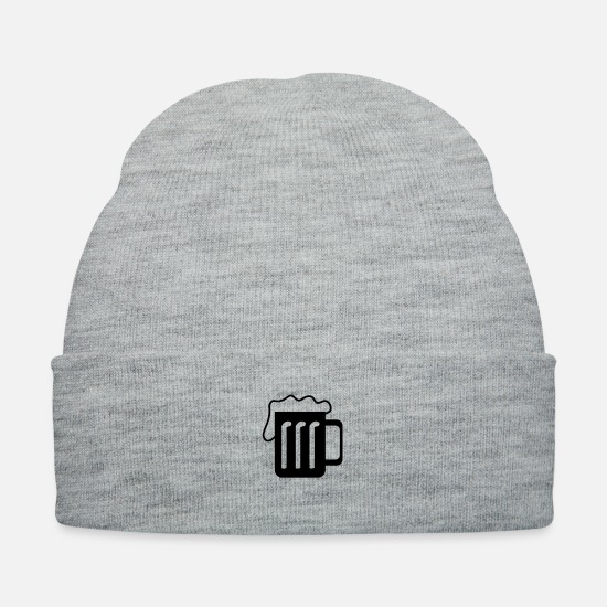 Alcohol Caps - beer - Knit Cap heather gray