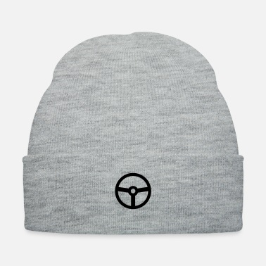 Race Car steering wheel vehicle racing car - Knit Cap
