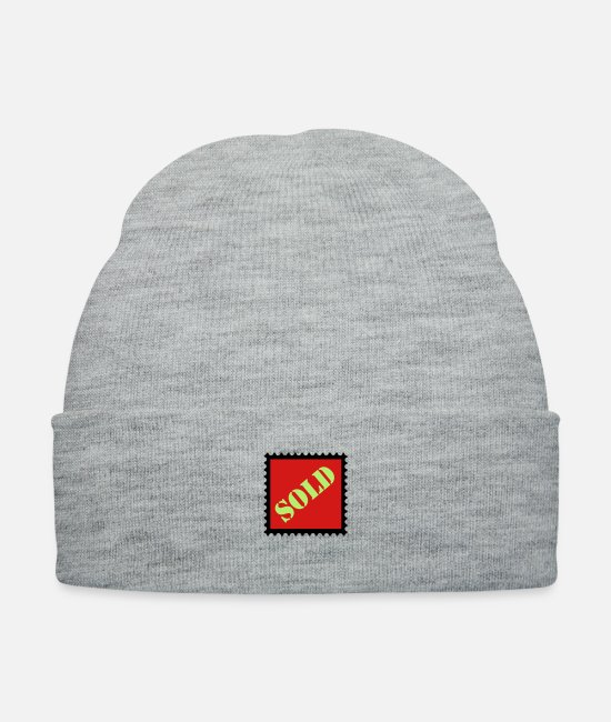 Sold Caps - stamp sold - Knit Cap heather gray