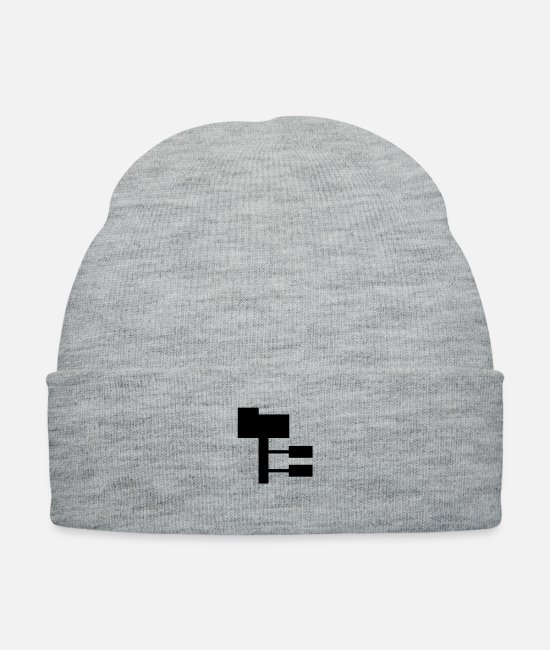Office Caps & Hats - network - Knit Cap heather gray