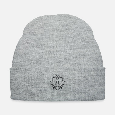 Buddhism meditation character inside circle - Knit Cap