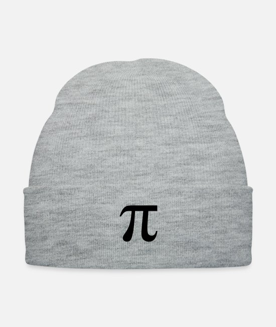 Alphabet Caps & Hats - Pi Symbol - Knit Cap heather gray