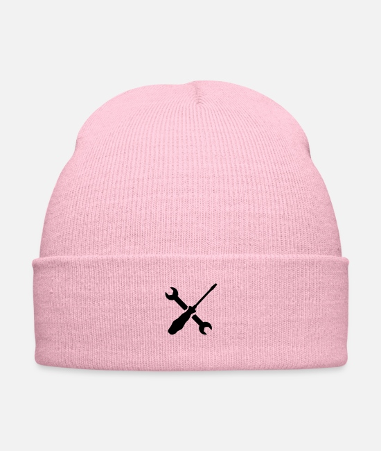 Wrench Caps - Screwdriver wrench - Knit Cap pink