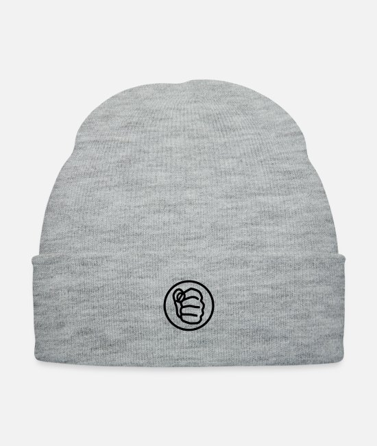 Eye-catcher Caps & Hats - fight_4__f1 - Knit Cap heather gray