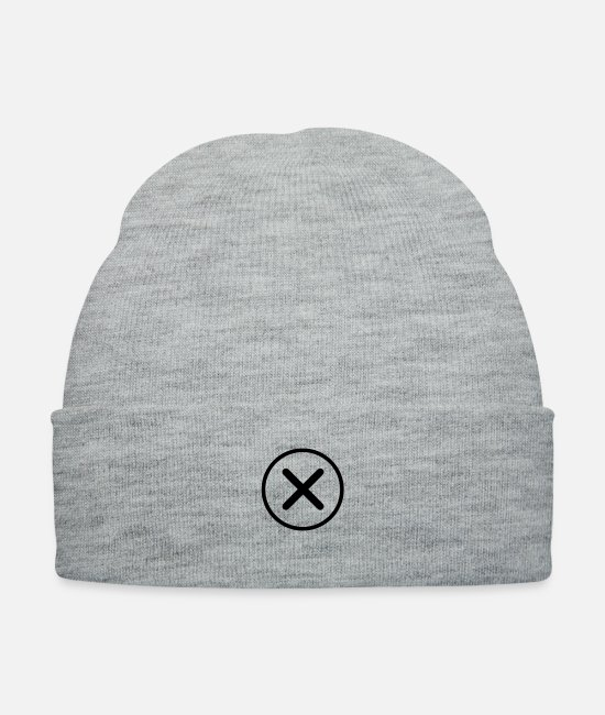 Hipster Caps & Hats - x - Knit Cap heather gray