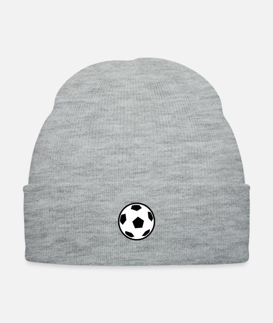 Ball Caps & Hats - Soccerball - Knit Cap heather gray