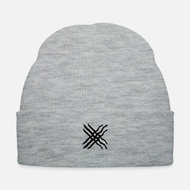 Scratch X stroke graffiti scratches lines - Knit Cap