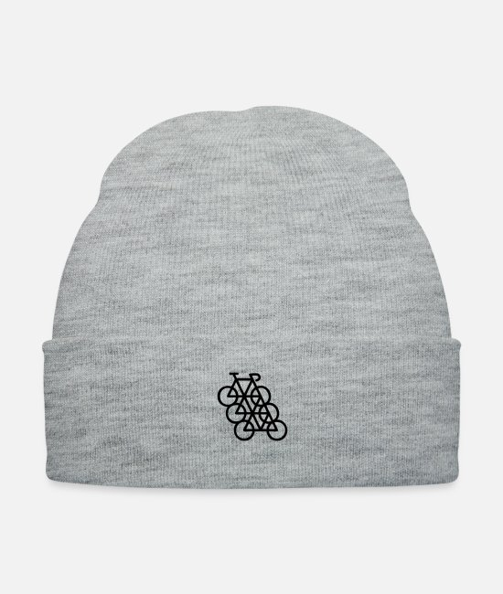 Hipster Stuff Cool Lol Bro Code Caps & Hats - bikes - Knit Cap heather gray