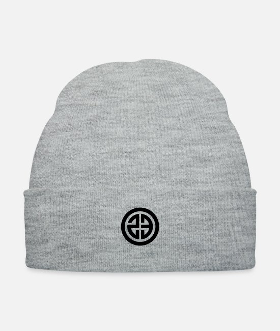 Techno Caps & Hats - 23 0019 23 round frame - Knit Cap heather gray