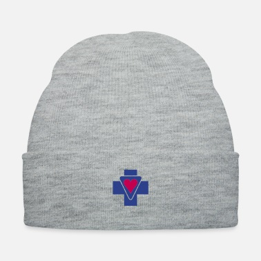 Pray For World Peace Harmony Love Positive Healing ❤†Holy Cross with a Passionate Heart-Love Jesus†❤ - Knit Cap