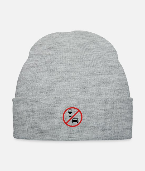 Give Caps & Hats - Don t drink and drive - Knit Cap heather gray