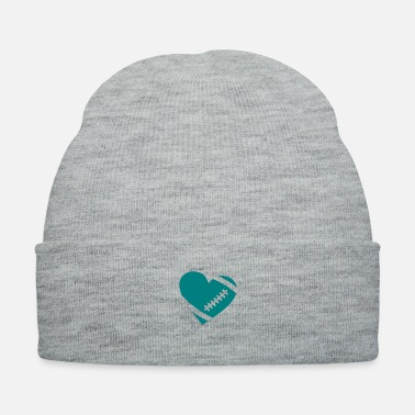 Football Field AMERICAN FOOTBALL HEART - Knit Cap