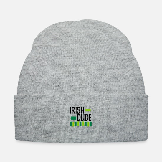 St Caps - Irish Dude, 3 Color Design - Knit Cap heather gray