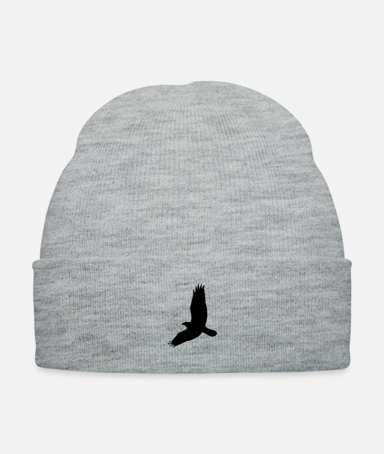 Pilot Caps & Hats - bird - Knit Cap heather gray