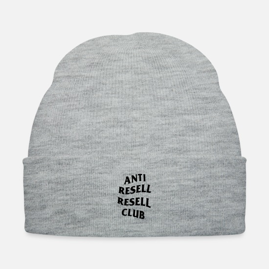 Reseller Caps - Anti Resell Resell Club - Knit Cap heather gray