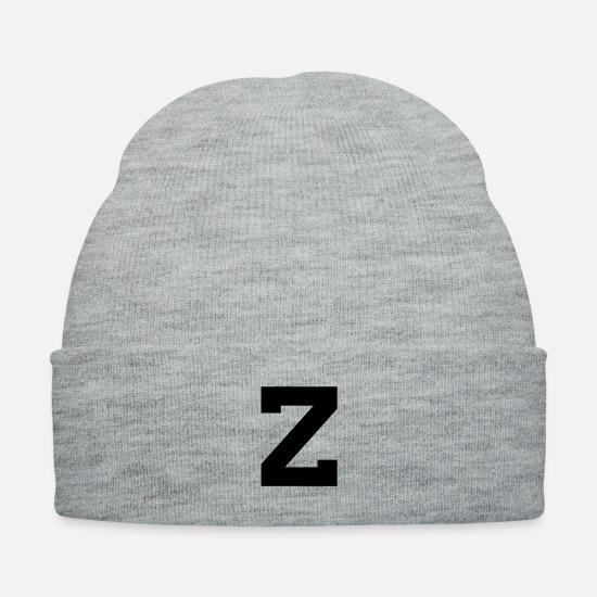 Zebra Caps - Letter Z - Knit Cap heather gray