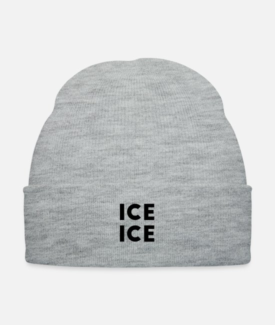 Pregnancy Caps & Hats - Ice Ice Baby - Knit Cap heather gray