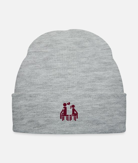 Heart Caps & Hats - heartbreak couple - Knit Cap heather gray