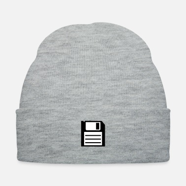 floppy disk media computer nerd - Knit Cap