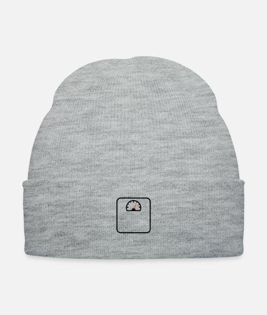 Fit Caps & Hats - weight weighing scale - Knit Cap heather gray