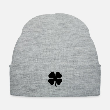Lucky Clover four leaf clover, lucky - Knit Cap