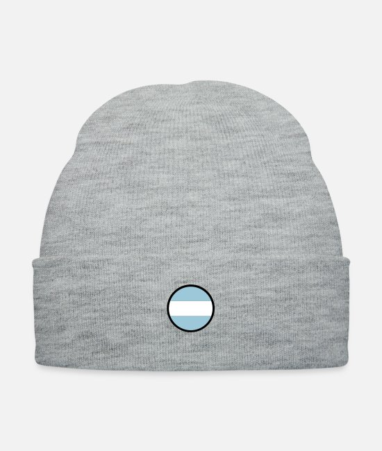 Ball Caps & Hats - Circle Argentina (3c)++ - Knit Cap heather gray