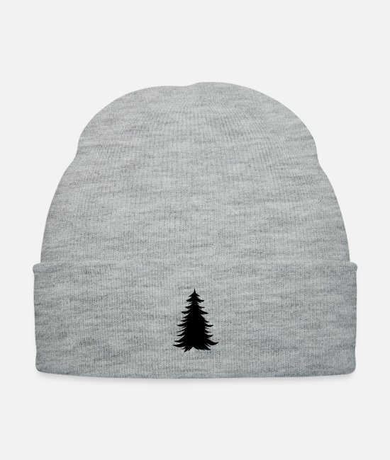 December Caps & Hats - Christmas Tree - Knit Cap heather gray