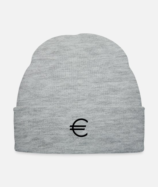 Money Caps & Hats - Euro - Currency - Money - Dollar - Knit Cap heather gray
