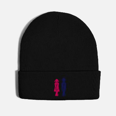 Restroom Pair in need of a Restroom (2c) - Knit Cap